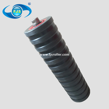 customized carring idler, rubber coated belt conveyor roller, conveyor impact roller