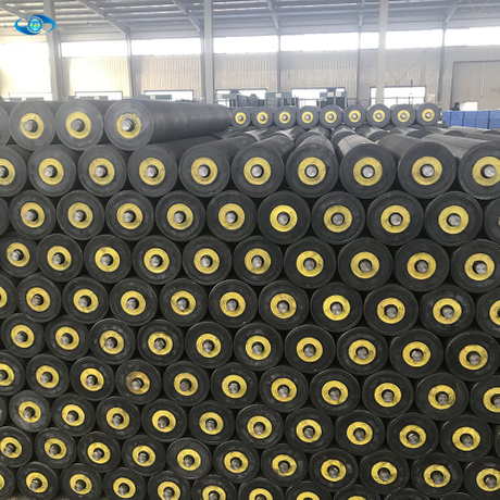 Industrial coal mine belt UHMWPE conveyor idler HDPE roller