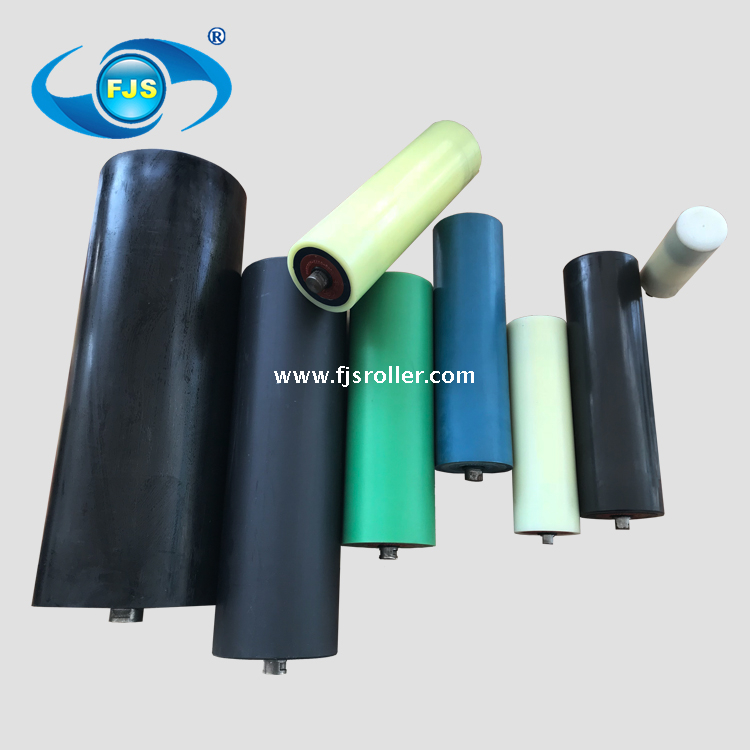 127mm dia impact resistance low noise HDPE conveyor idler roller